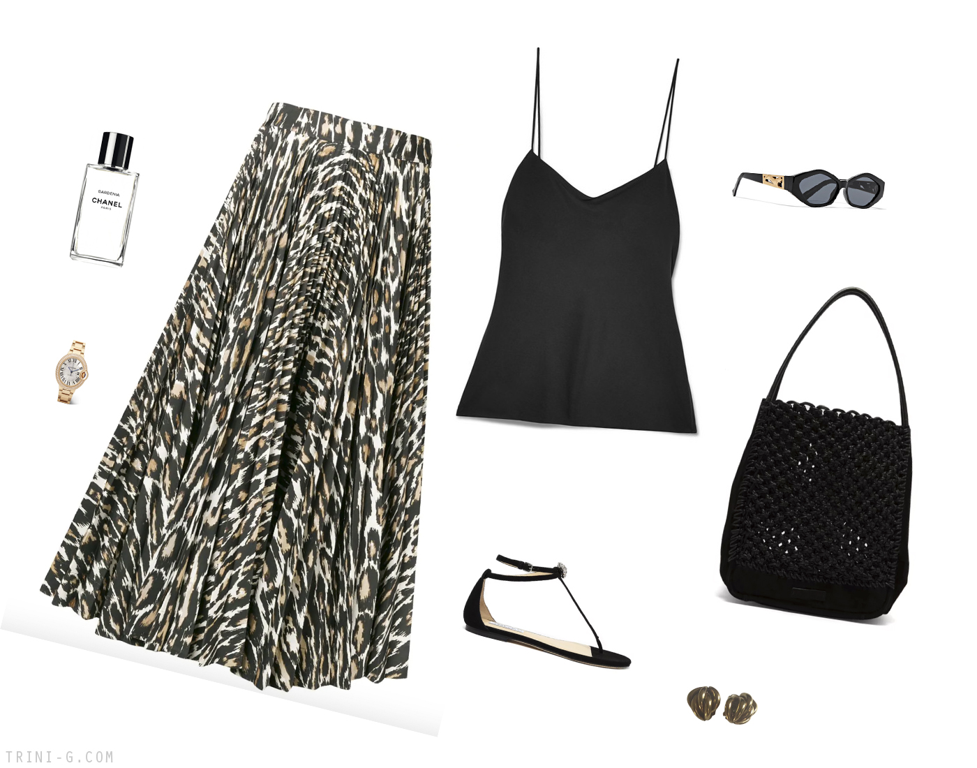 Trini | Calvin Klein skirt Jimmy Choo sandals