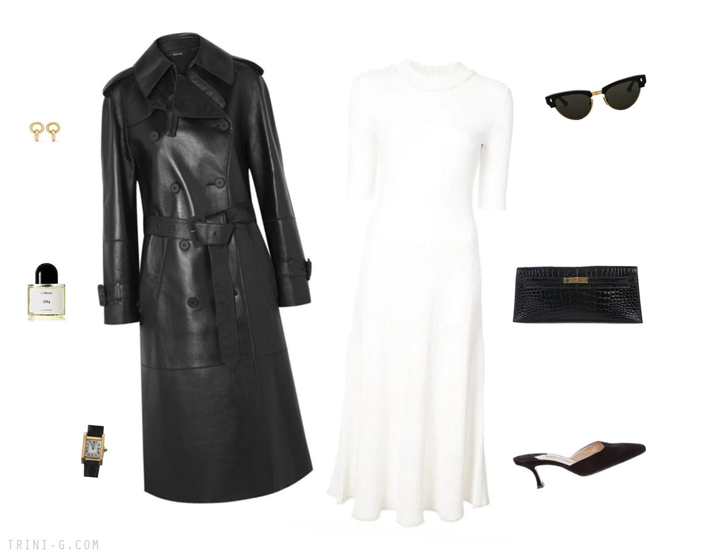 Trini | Proenza Schouler dress Maison Margiela coat