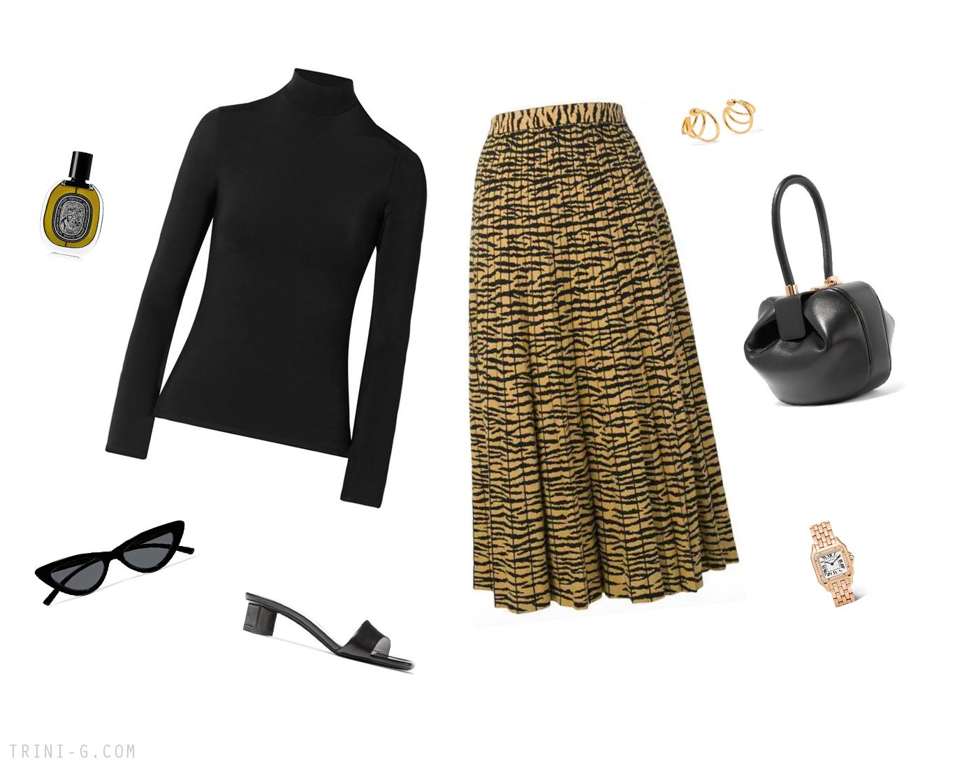 Trini | The Row turtleneck Proenza Schouler skirt
