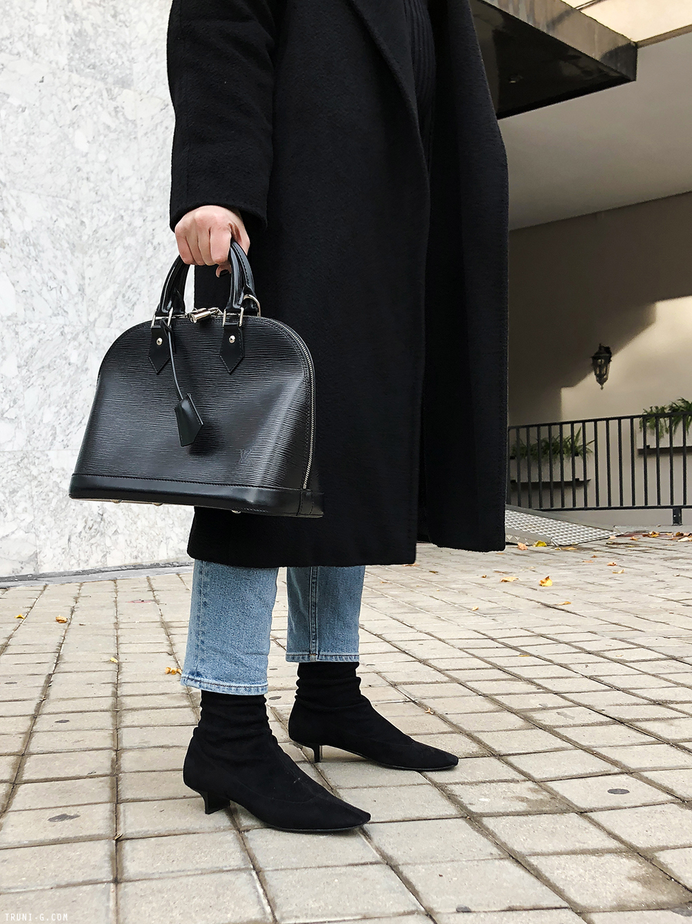 Trini | Max Mara Manuela coat Acne Studios jeans Stella McCartney boots