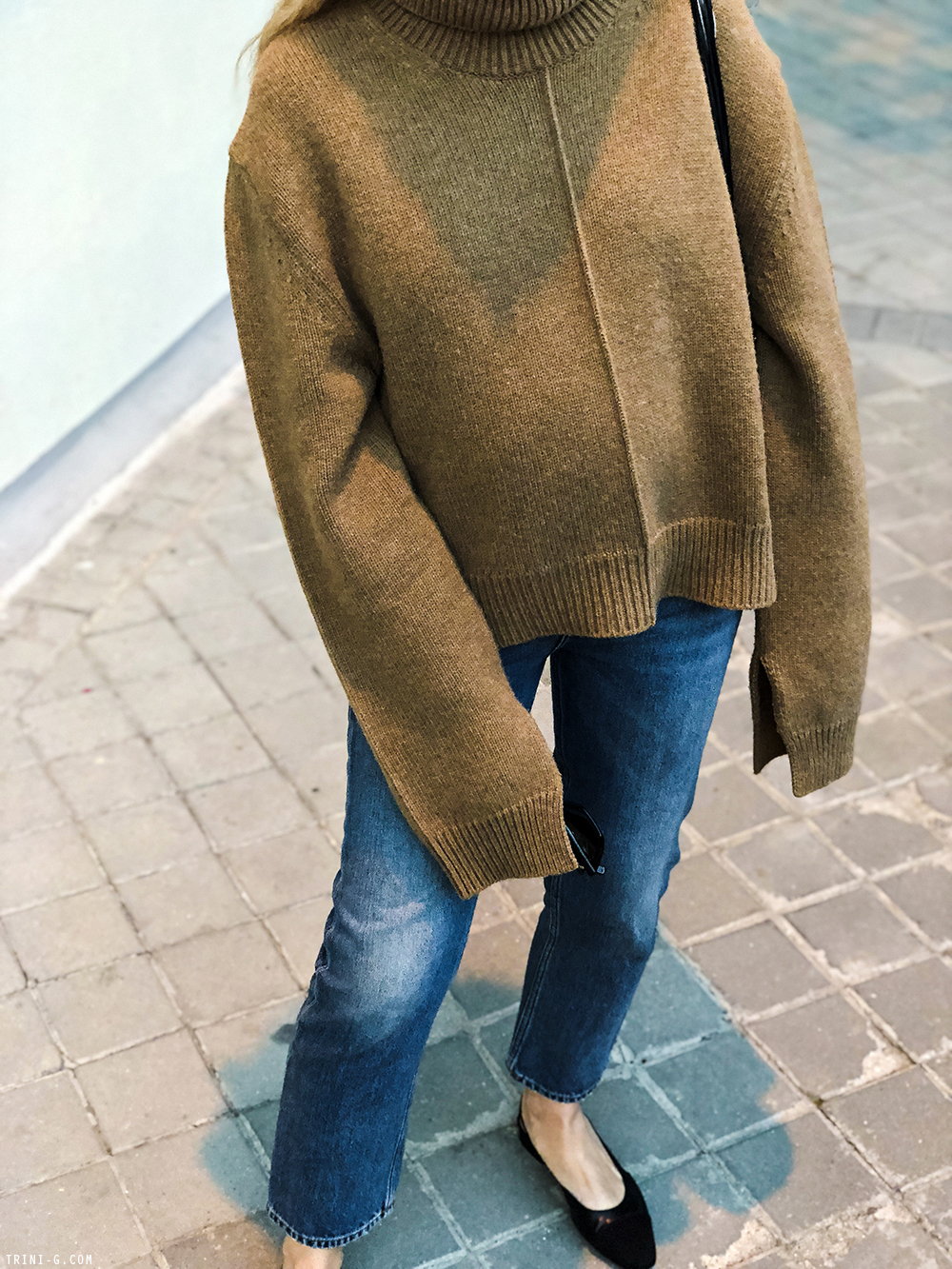 Trini | Céline turtleneck sweater Acne Studios jeans Chanel shoes