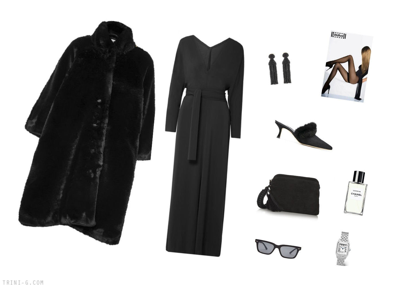 Trini | Balenciaga coat Manolo Blahnik shoes