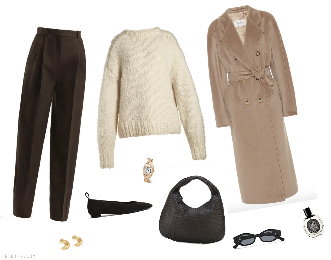 Trini | Max Mara Madame coat The Row trousers