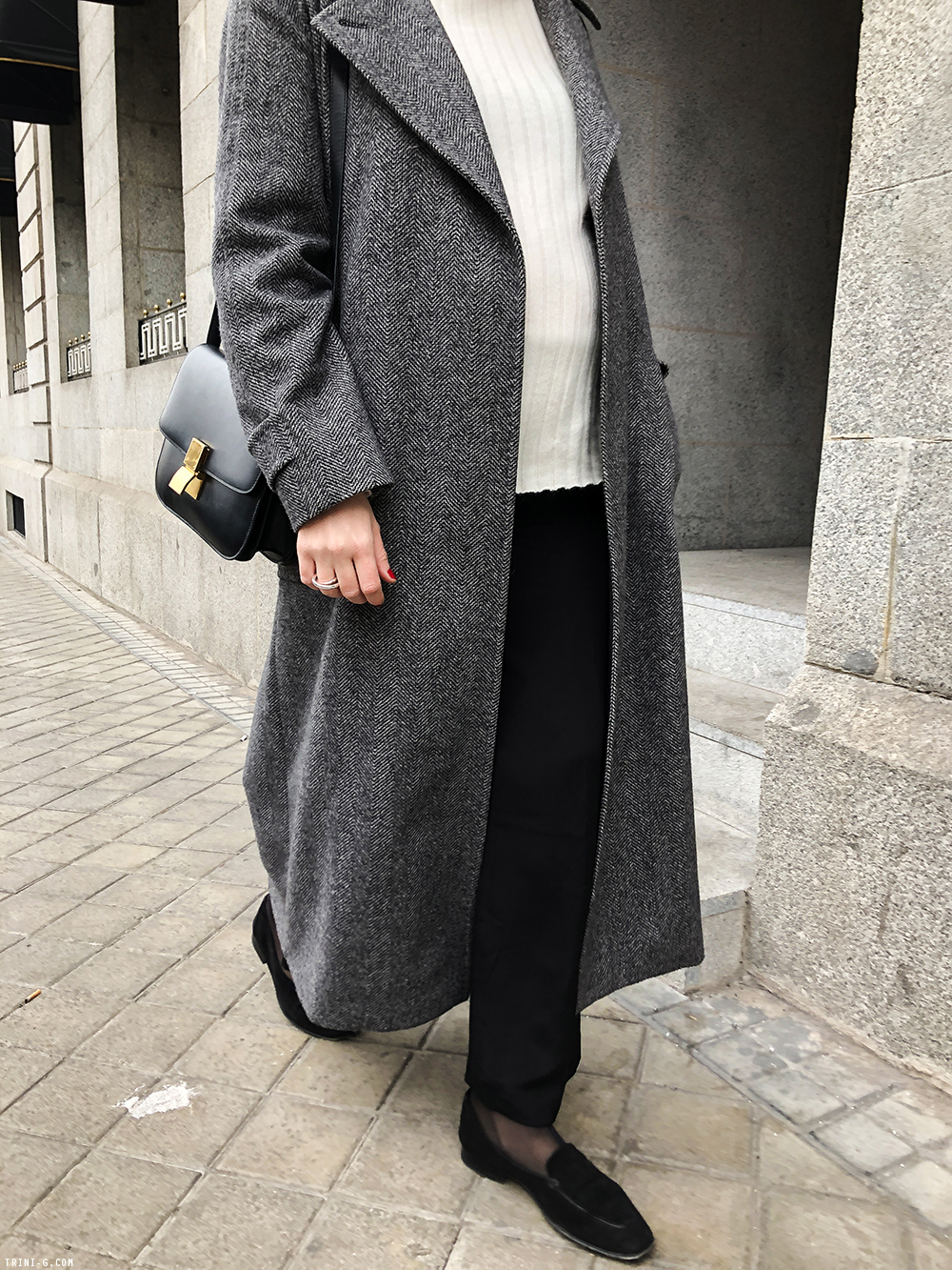 Trini | Max Mara coat Theyskens Theory pants