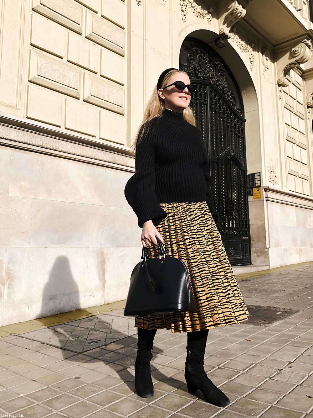 Trini | Proenza Schouler skirt Prada boots