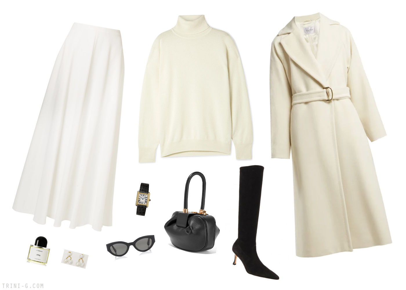 Trini | Max Mara coat The Row sweater