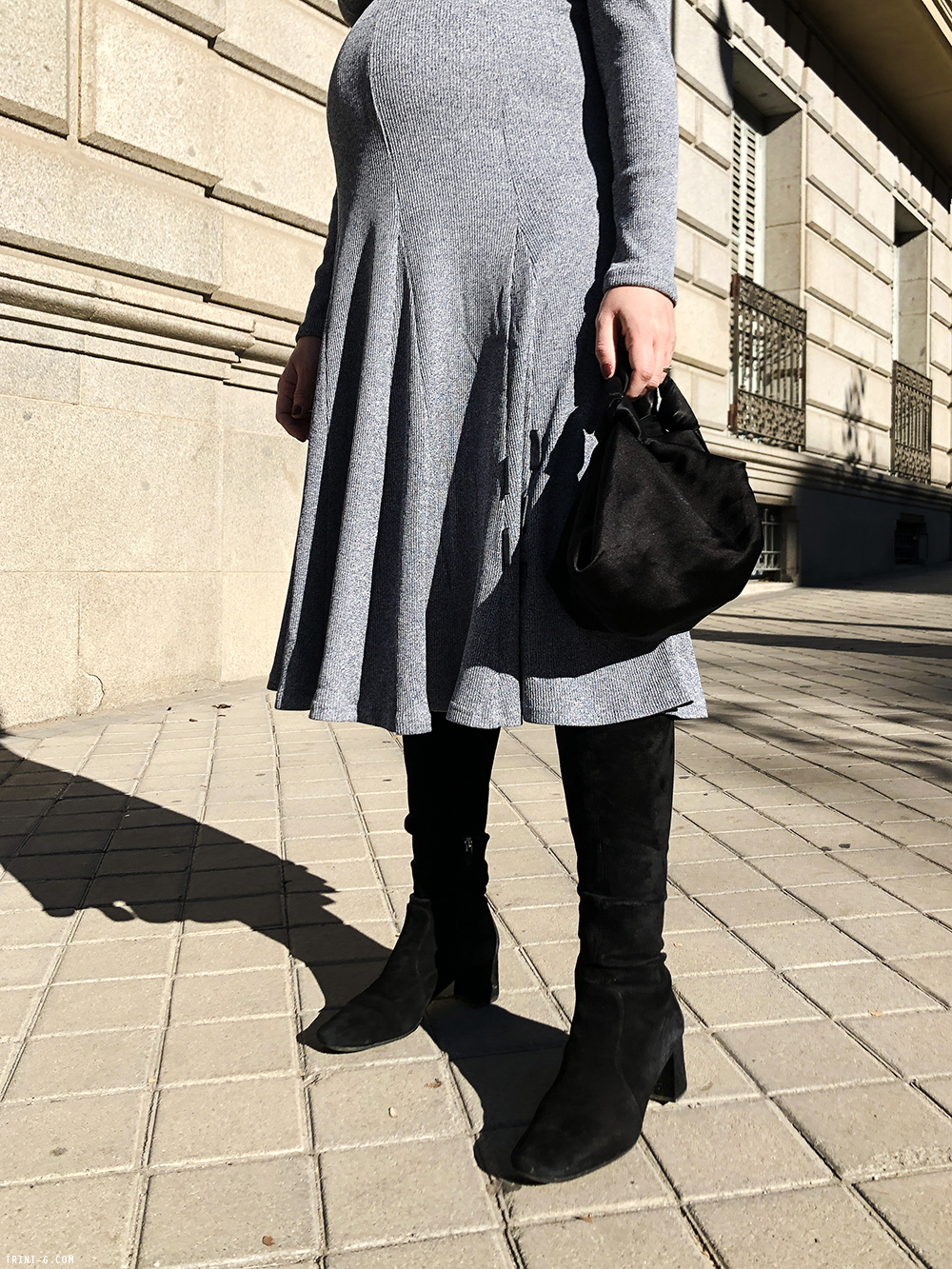 Trini | Skye dress Prada boots