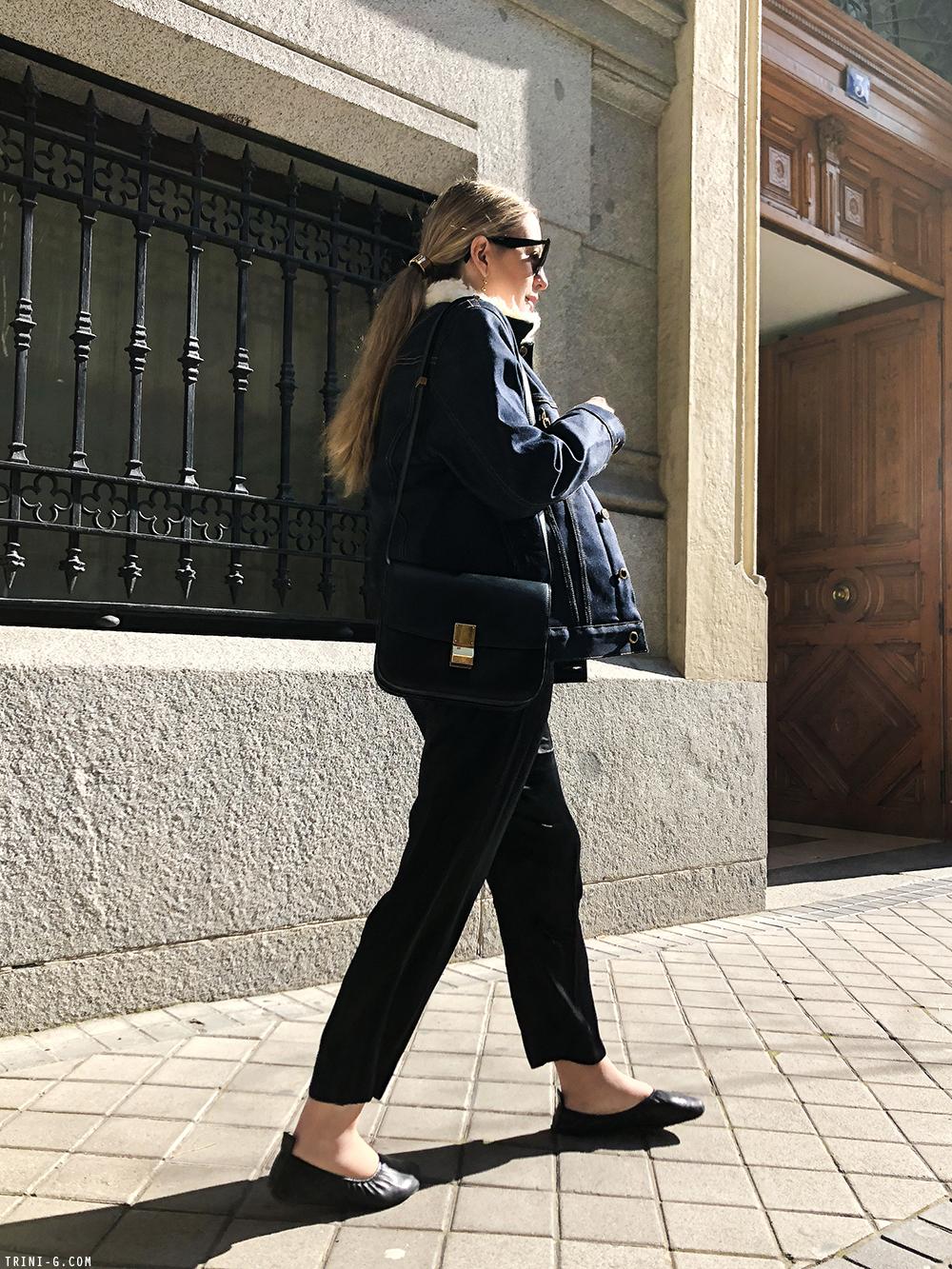 Trini | Khaite denim jacket Céline ballerina