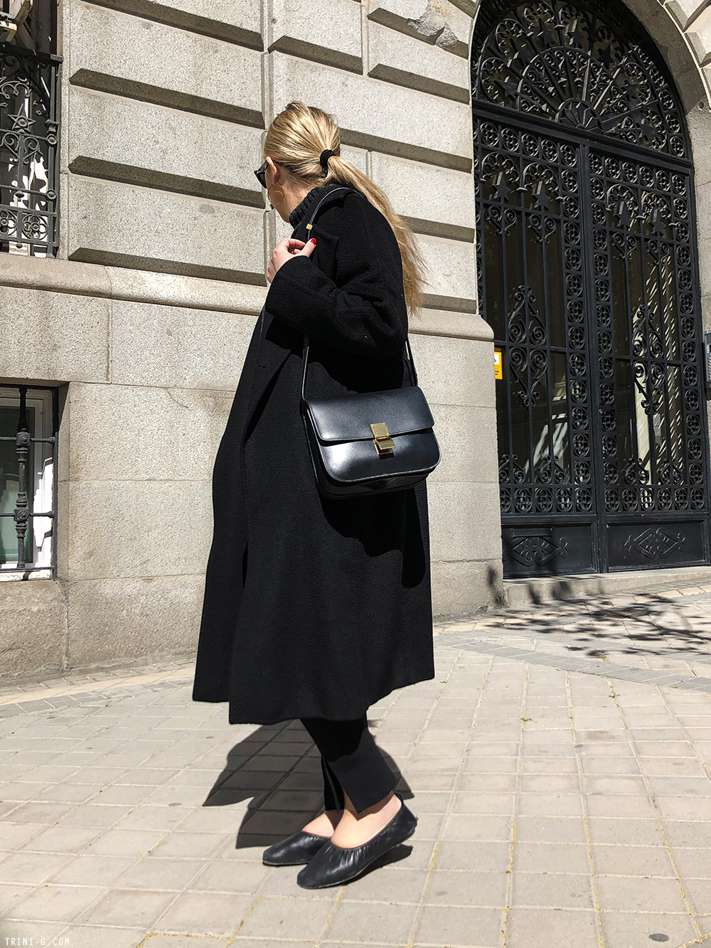 Trini | The Row leggings MaxMara coat