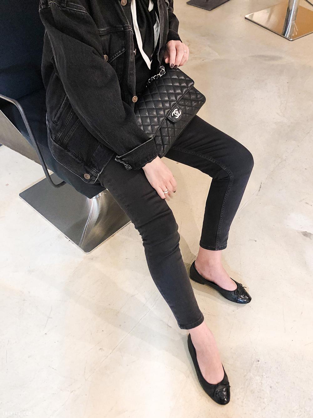 Trini | Balenciaga swing denim jacket Balenciaga jeans