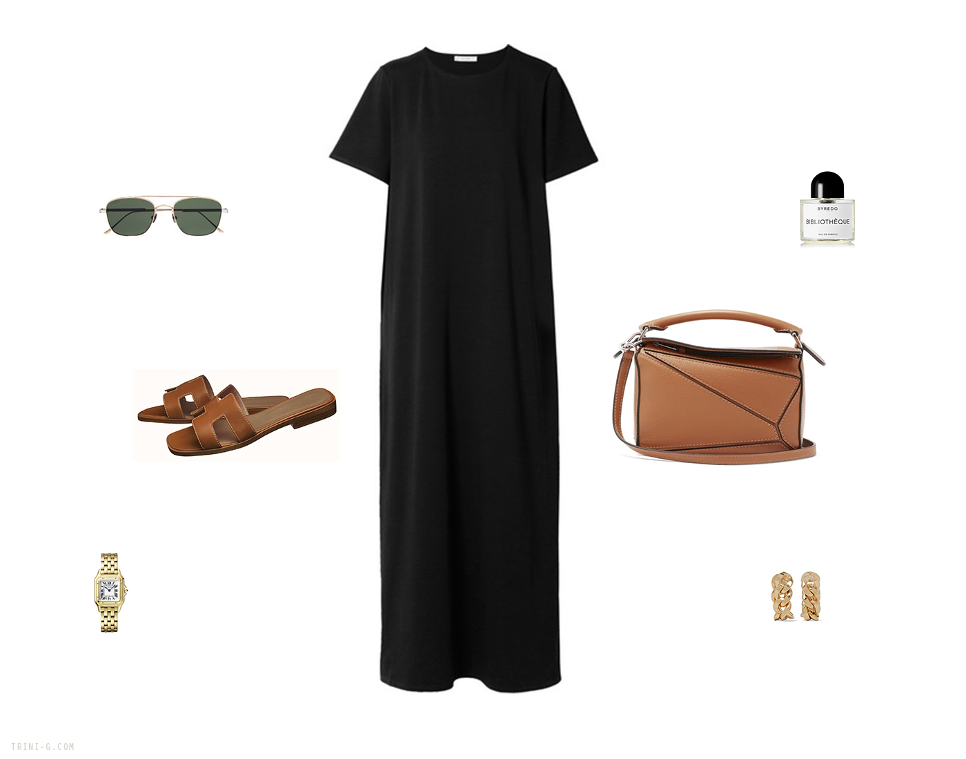 Trini | The Row dress Loewe bag