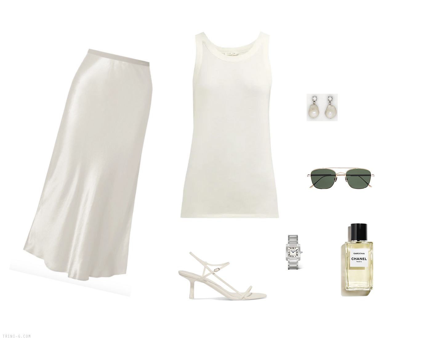 Trini | Max Mara skirt The Row top