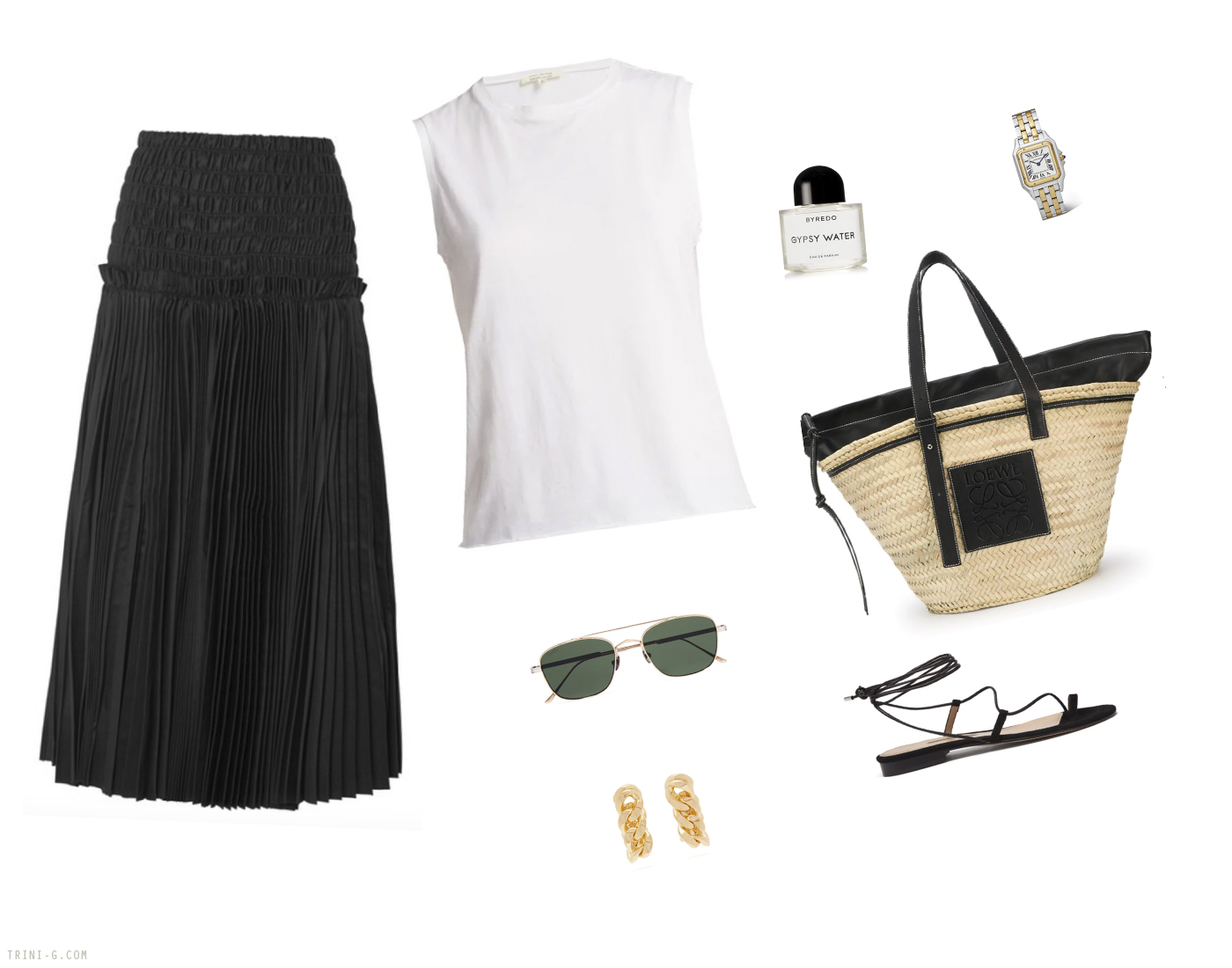 Trini |Khaite skirt Loewe bag