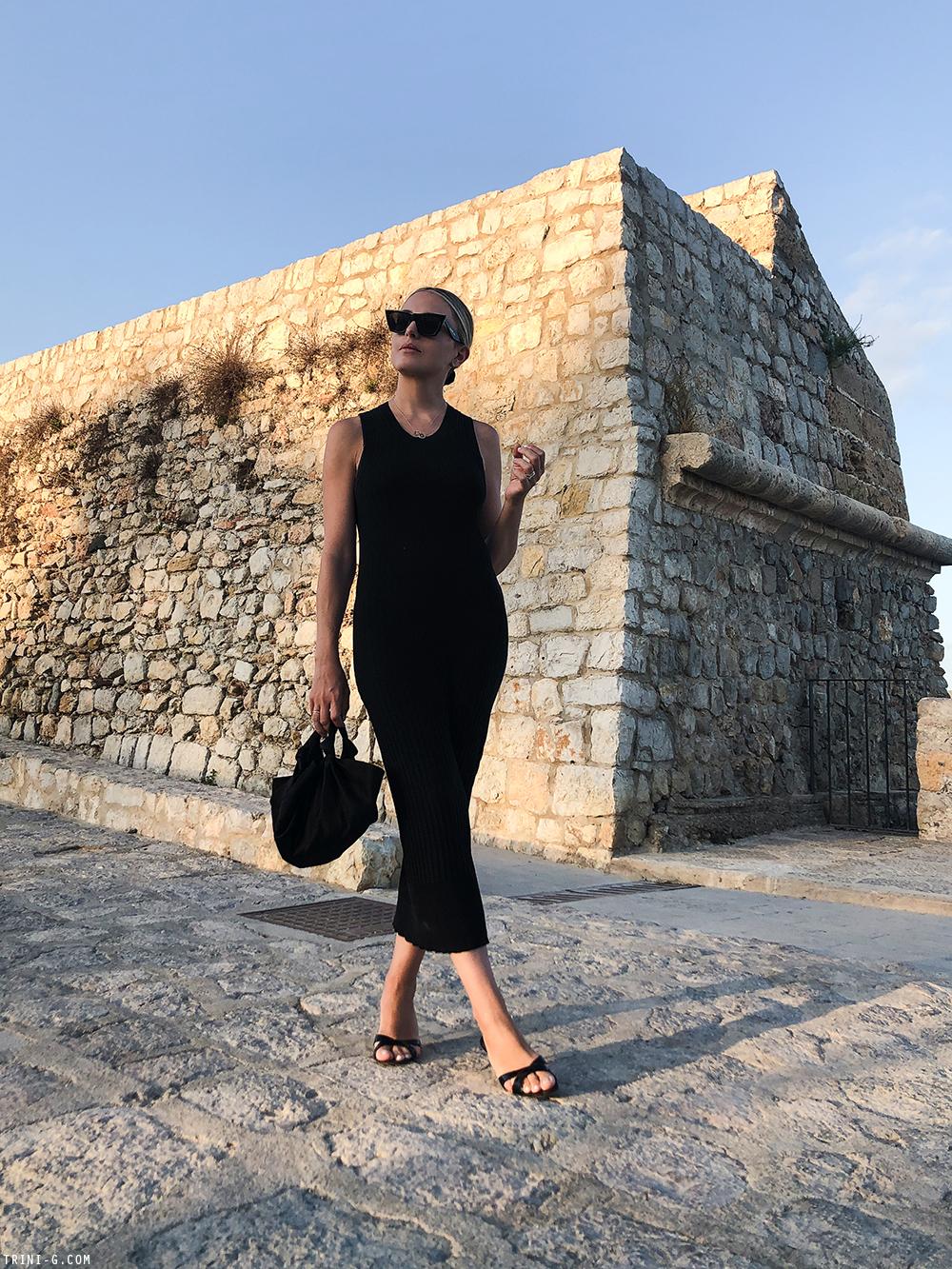 Trini | Acne Studios dress Manolo Blahnik sandals