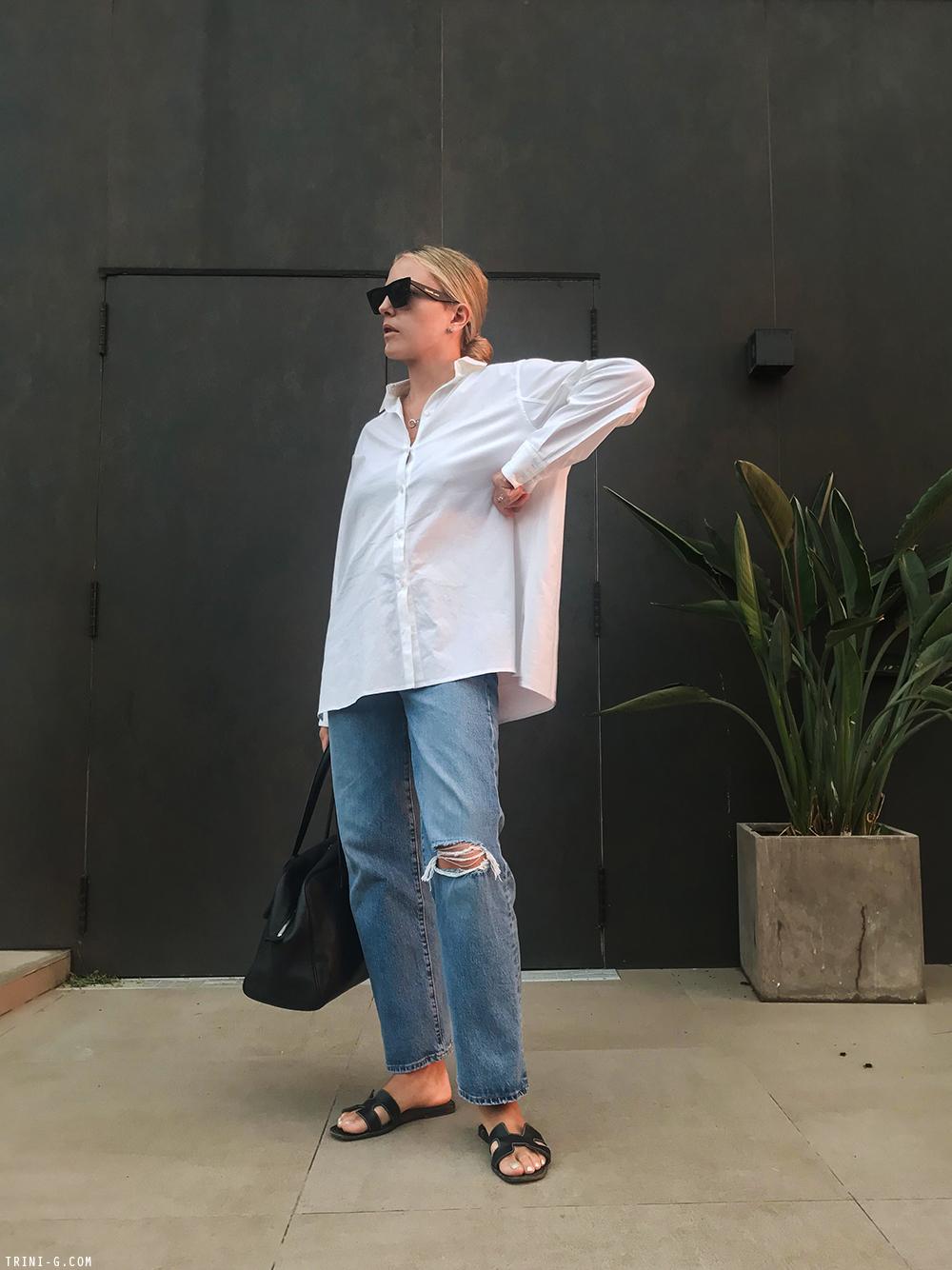 Trini | Levi's jeans The Row shirt