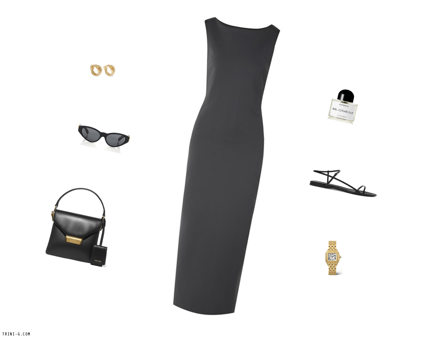 Trini | The Row dress Prada bag