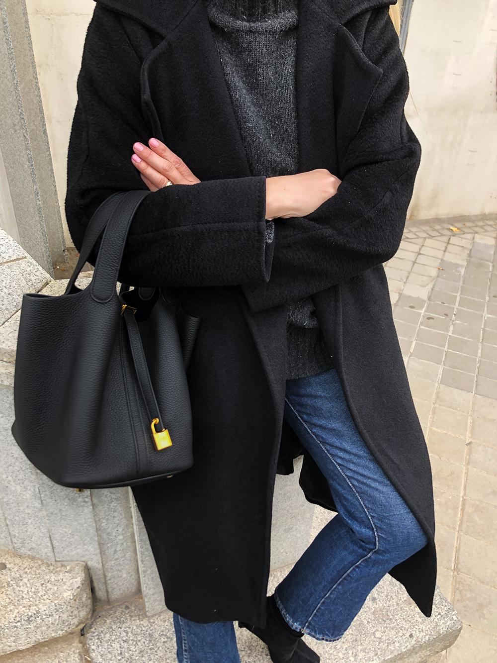 Trini | Max Mara coat Khaite jeans