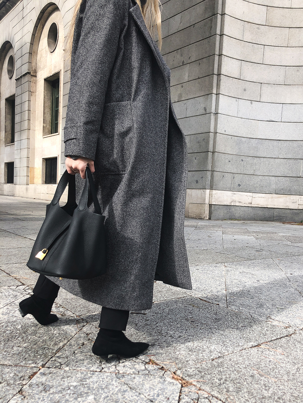 Trini | Max Mara coat The Row leggings Hermes bag