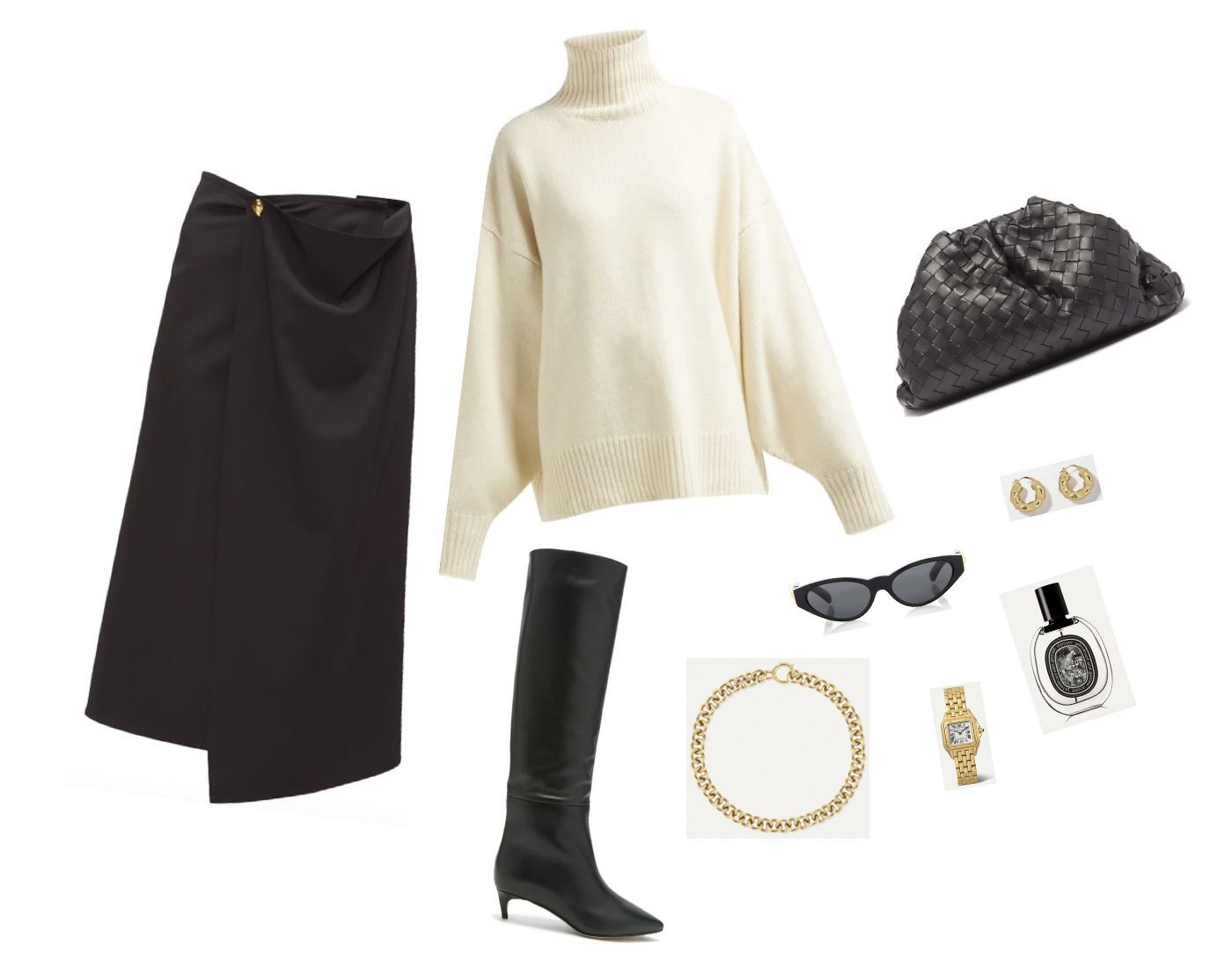 Trini | Bottega Veneta skirt Jimmy Choo boots