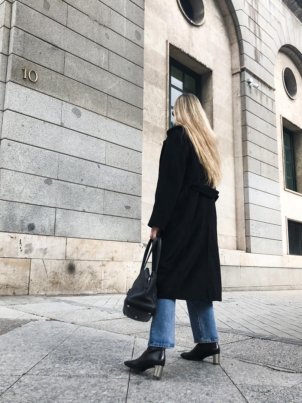 Trini | Max Mara coat Levi's jeans Hermes bag