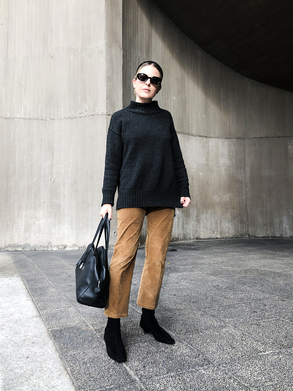 Trini | Prada pants Max Mara sweater