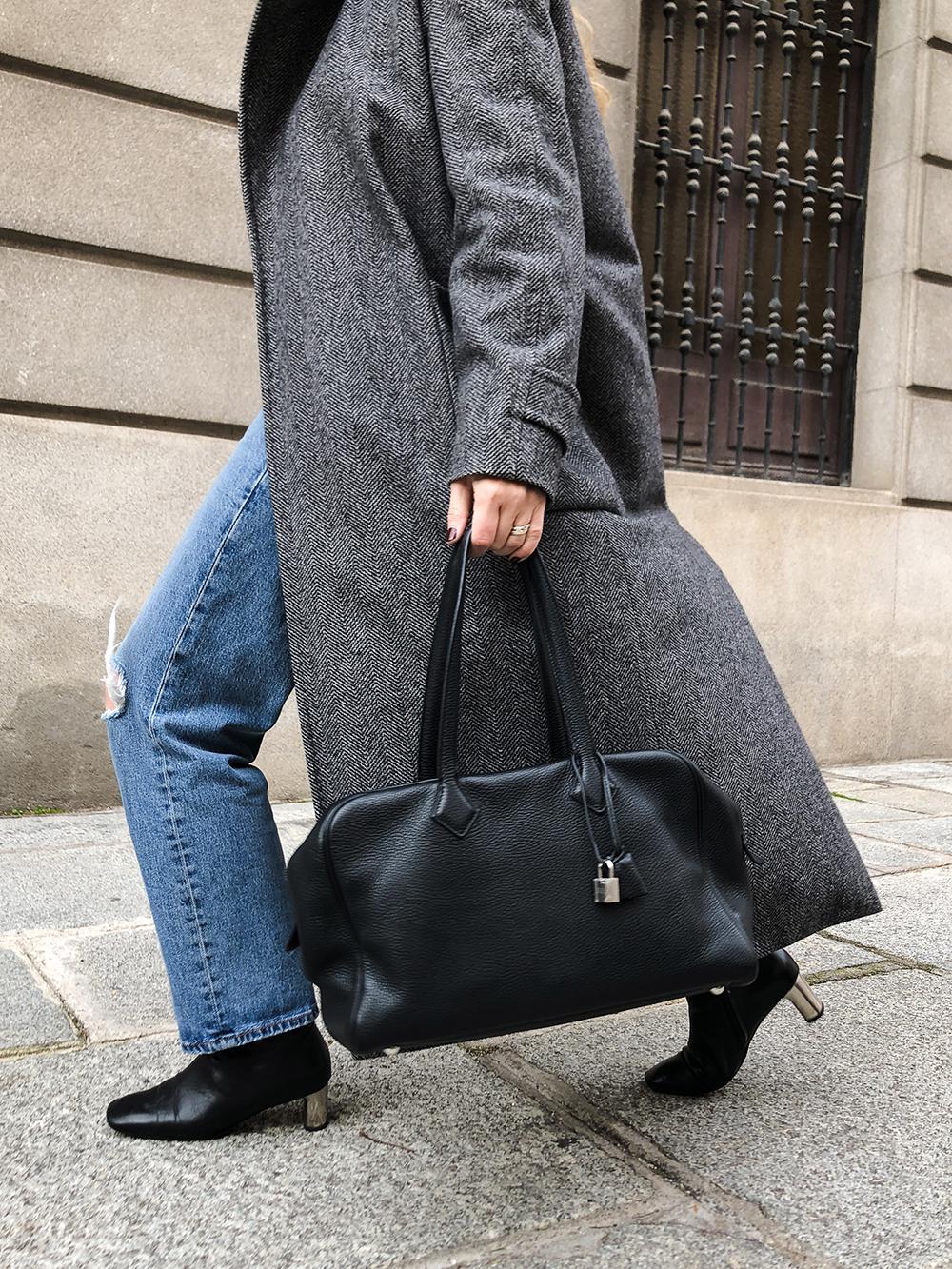 Trini | Max Mara coat Levi's jeans