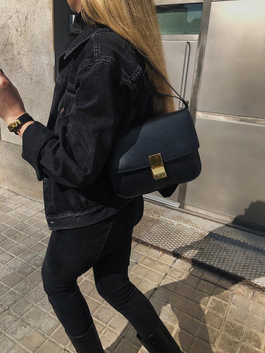Trini | Balenciaga denim jacket Chanel boots