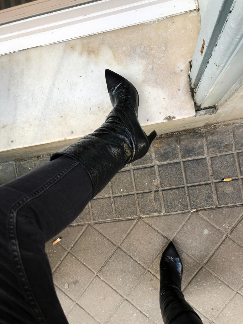 Trini | Balenciaga sweater Chanel boots