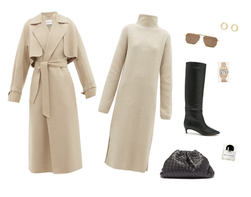 Trini | The Row dress Jimmy Choo boots