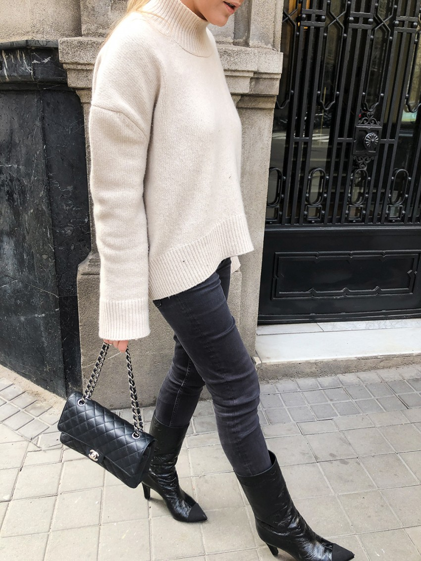 Trini | Brock Collection sweater Chanel boots