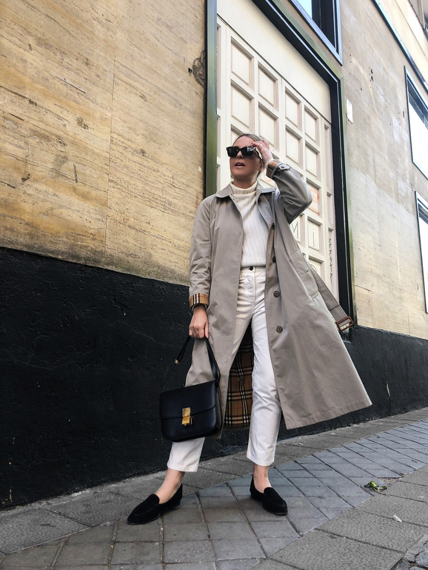 Trini | Burberry trench The Row jeans