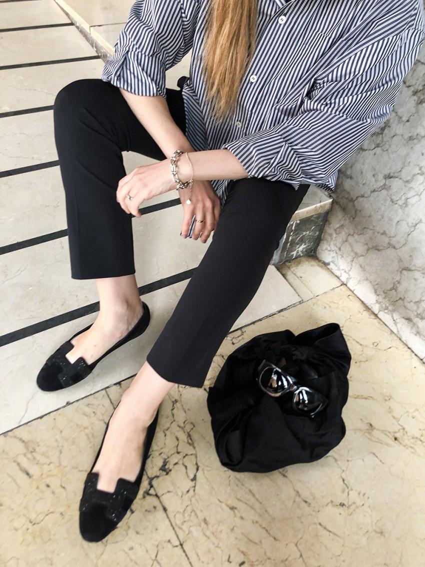 Trini | Balenciaga shirt Prada trousers