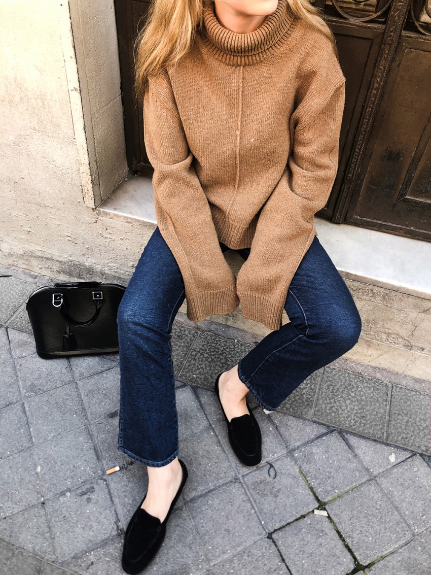 Trini | Celine sweater Khaite jeans