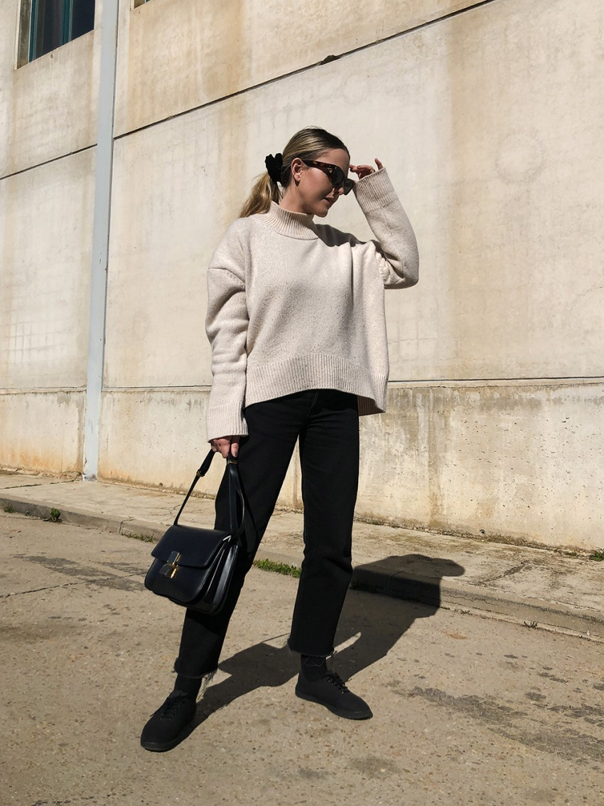 Trini   Levi's jeans The Row sneakers Brock Collection sweater