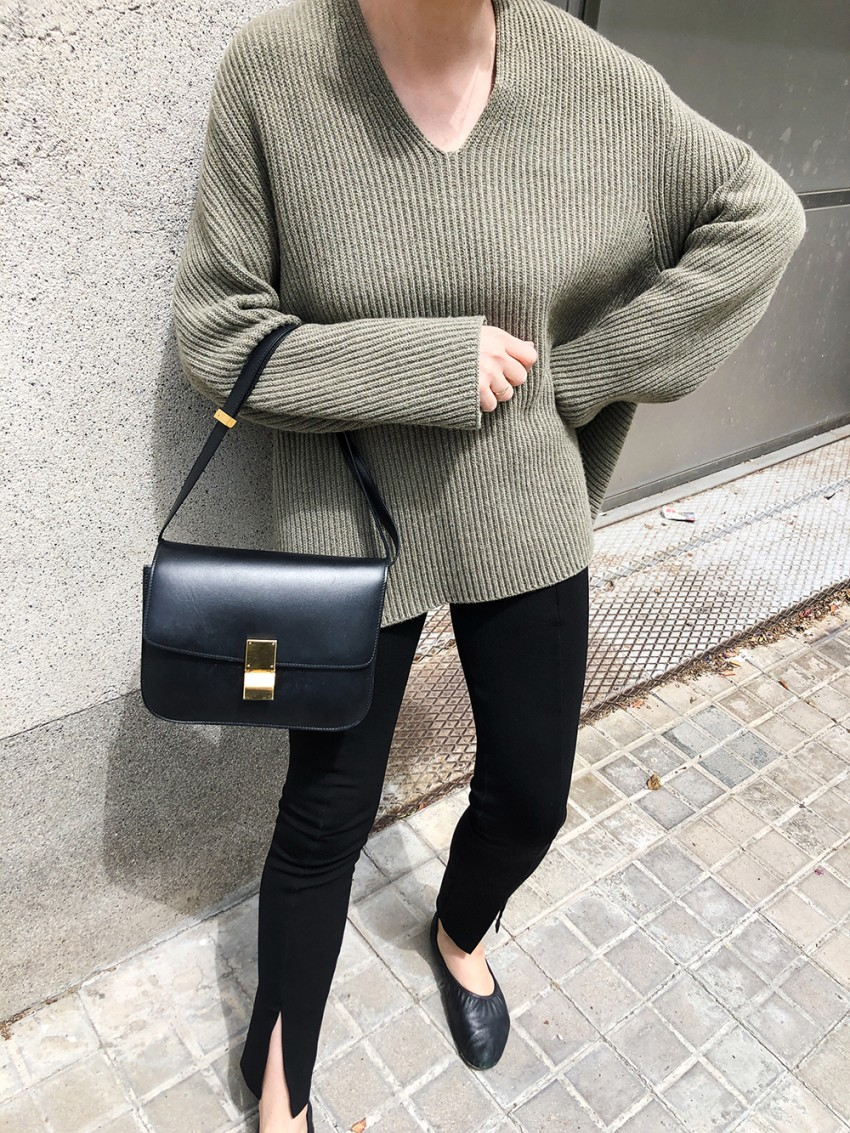 Trini | Bottega Veneta sunglasses The Row sweater