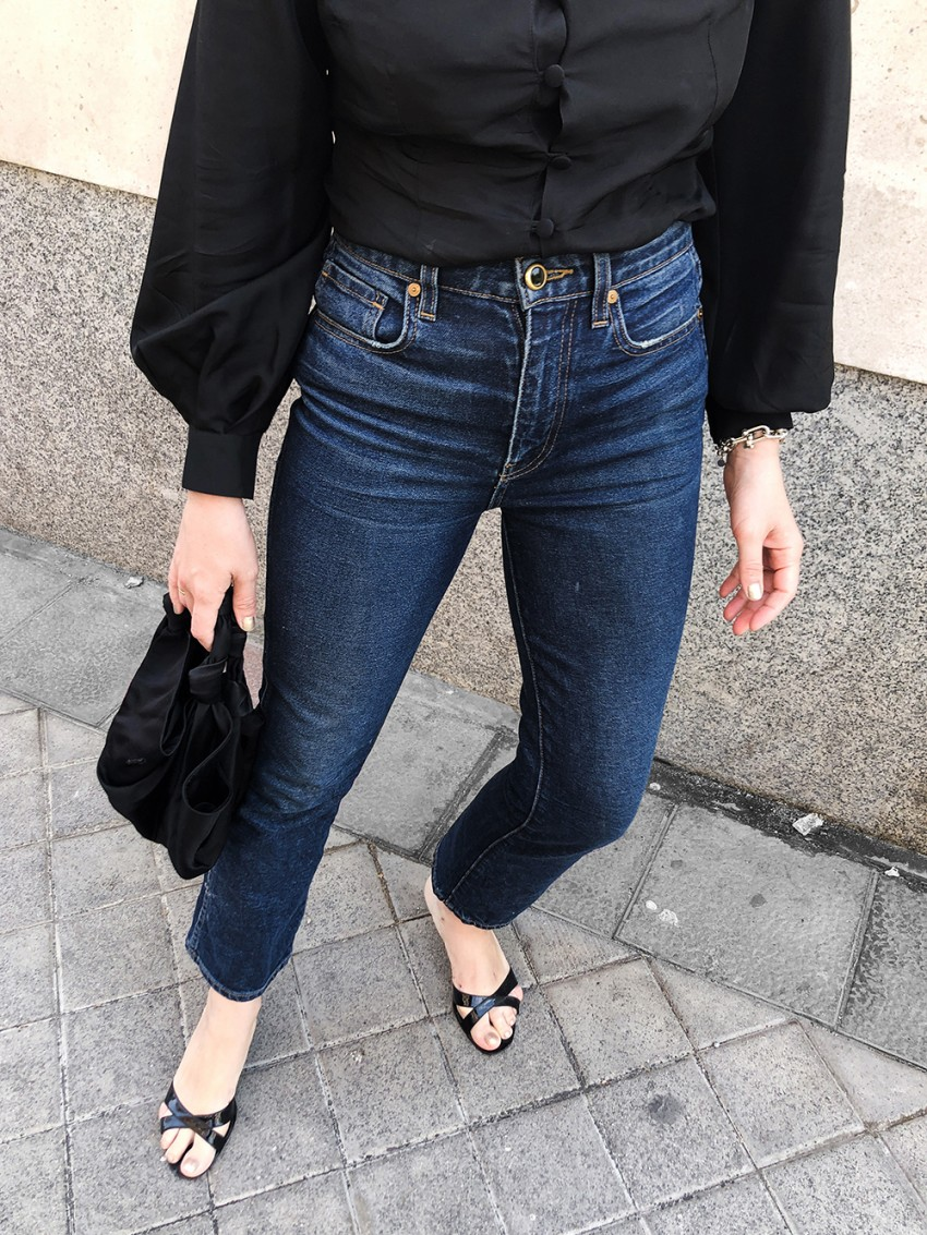 Trini | Khaite jeans Deitas top