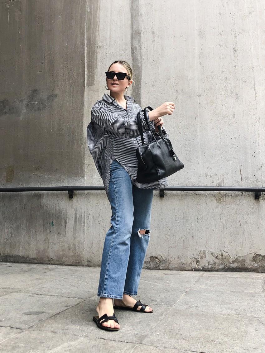 Trini | Balenciaga shirt Levi's jeans