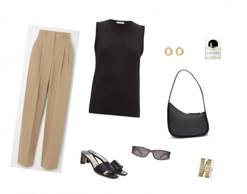 Trini | The Row t-shirt Stella McCartney pants