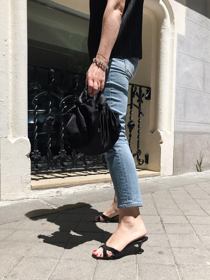 Trini | Acne Studios jeans Manolo Blahnik sandals