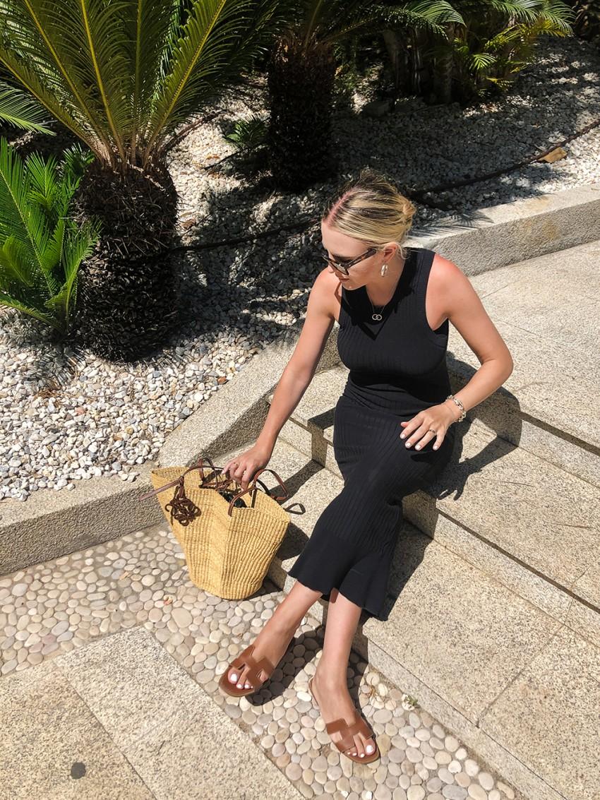 Trini | Acne Studios dress Loewe shell basket bag