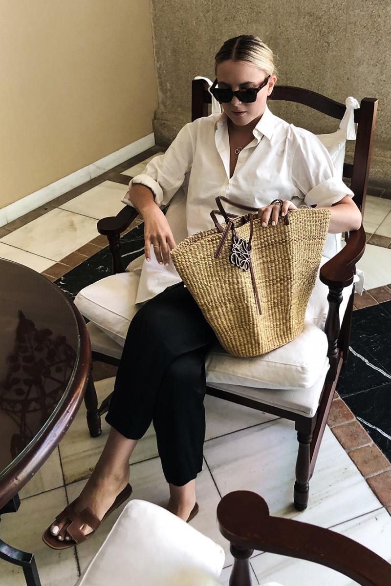 Trini | Loewe basket bag The Row shirt