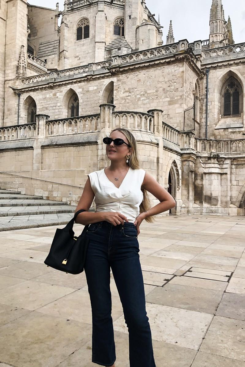 Trini | Khaite jeans Isabel Marant top
