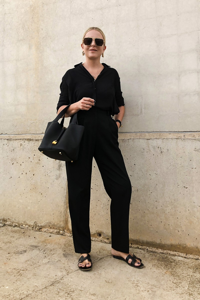 Trini | The Row shirt Stella McCartney trousers