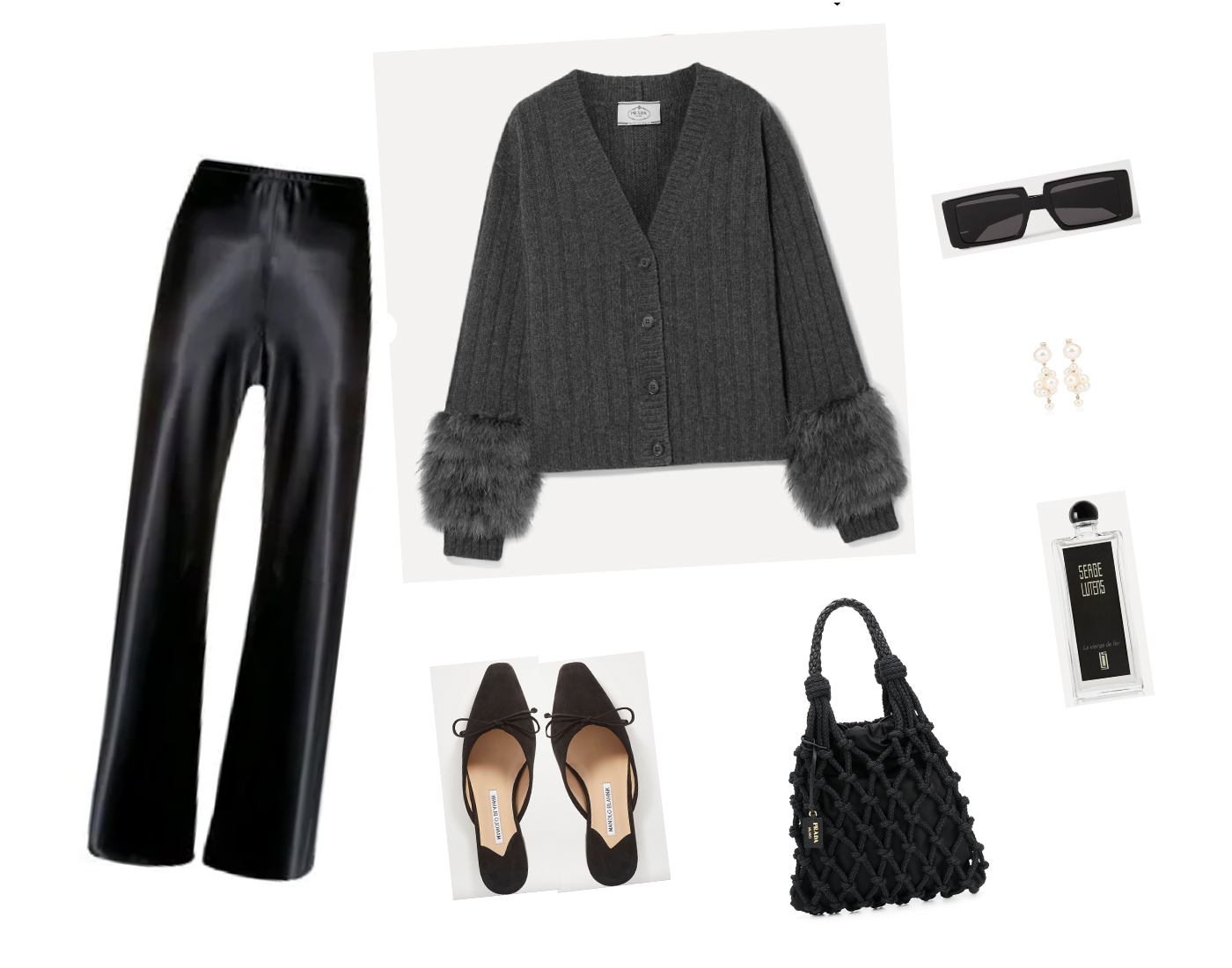 Trini | Prada cardigan The Row pants
