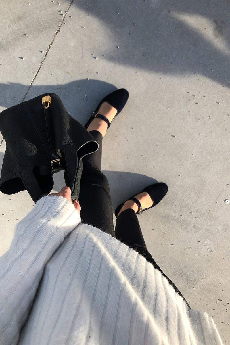 Trini | Prada trousers The Row shoes