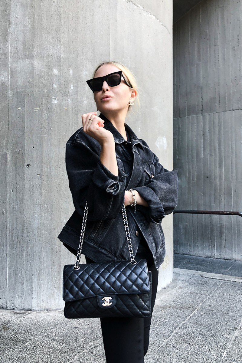 Trini | Chanel flap Celine sunglasses