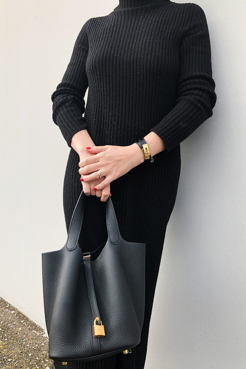 Trini | MaxMara dress Hermes bag