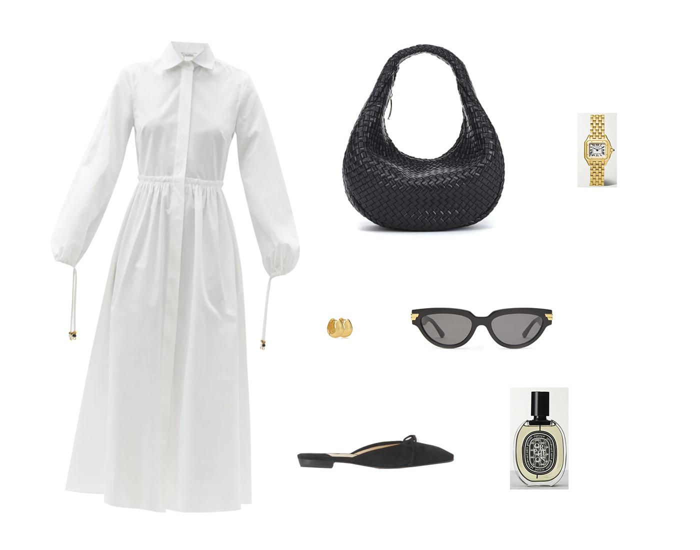 Trini | MaxMara dress Bottega Veneta bag