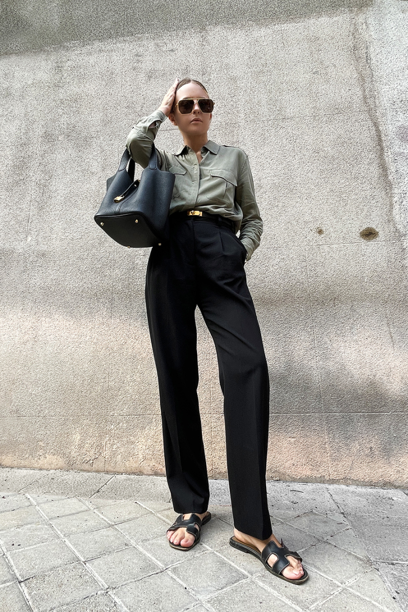 Trini   Equipment shirt Stella McCartney pants
